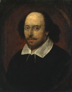William Shakespeare associated with John Taylor, c. 1610 and believed to be the truest likeness of the Bard in existence. © NPG,London.