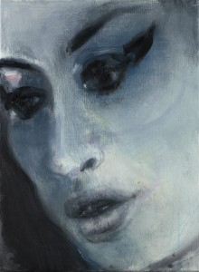 Amy Winehouse ('Amy-Blue') by Marlene Dumas, 2011 © Marlene Dumas; courtesy of the artist and Frith Street Gallery, London