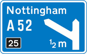 Kinneir and Calvert's motorway signage design from 1958 and still in use today