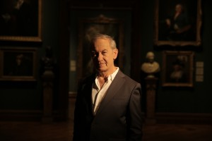 Professor Simon Schama at the National Portrait Gallery, London. © Oxford Film and Television Ltd.