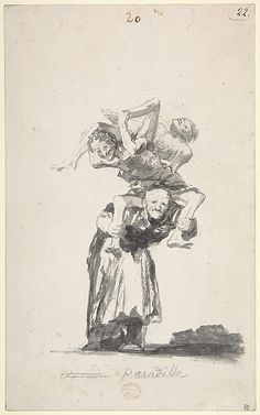 Nightmare (Pesadilla), c. 1819-23, Francisco Goya, Album D, page 20, New York, The Metropolitan Museum of Art