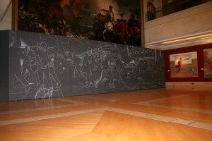 Rise of the Invisible installed in the Guildhall Art Gallery
