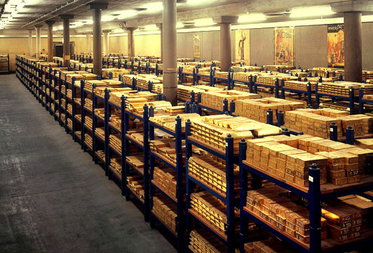 The Bank of England's gold reserves today