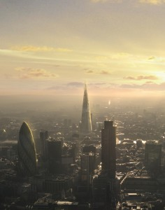 Sunrise over The Shard