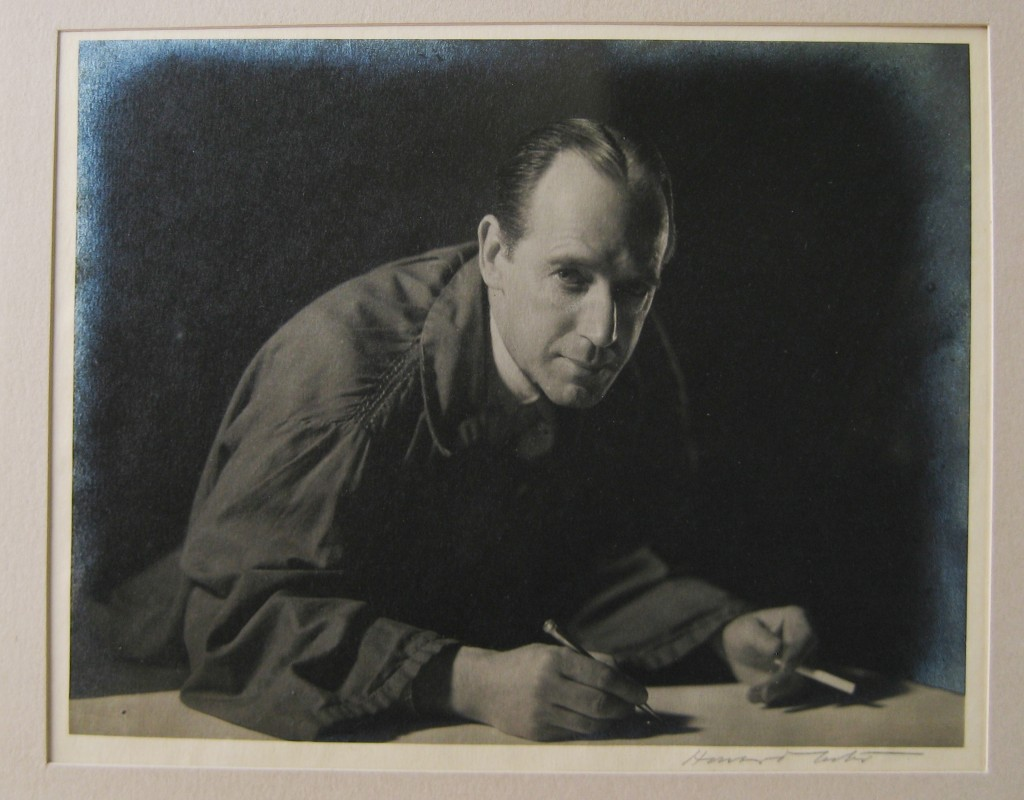 MacDonald 'Max' Gill photographed in his studio by Howard Coster (29 Nov 1935) © Caroline Walker