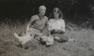 Max and Priscilla in their Sussex garden 1940s © Caroline Walker