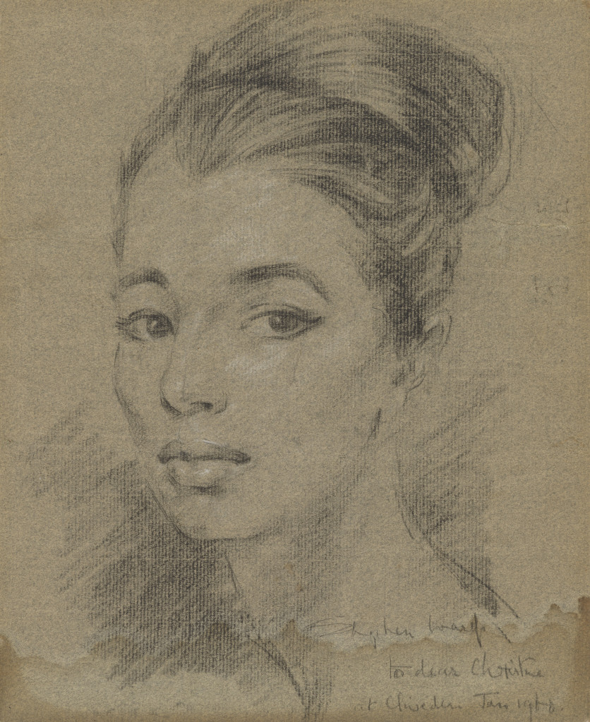 A portrait of Christine Keeler by Stephen Ward, 1961 or 1962 (© Collection of the National Portrait Gallery, London.)