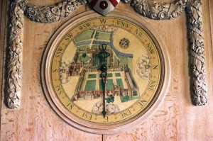 The Allhusen wind dial at Trinity College Cambridge painted by MacDonald in 1926. Courtesy Caroline Walker.