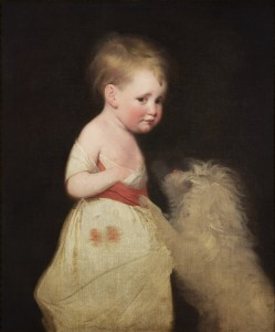 Anna Romana Wright (1774-1837) c. 1776-7.The artist's first child, aged almost three.Private Collection.