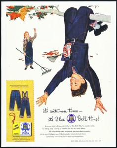 Mac Conner's illustration for the Blue Bell campaign, c. 1953