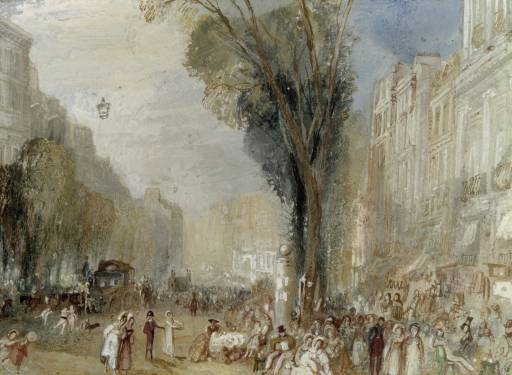 Paris - Boulevards circa 1833, by Joseph Mallord William Turner 1775-1851
