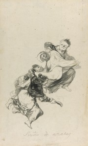 Francisco José de Goya y Lucientes<br>Spanish, 1746-1828<br>Dream of Flogging, 1801/03<br>Black watercolor on ivory, moderately textured laid paper with partial watermark.<br>233 x 143 mm<br>Clarence Buckingham Collection<br>1961.785<br>The Art Institute of Chicago