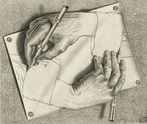 Drawing Hands, January 1948