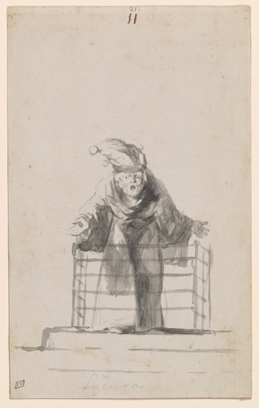Madness (Locura), c. 1819-23, Album D, page 11, New York, The Morgan Library & Museum