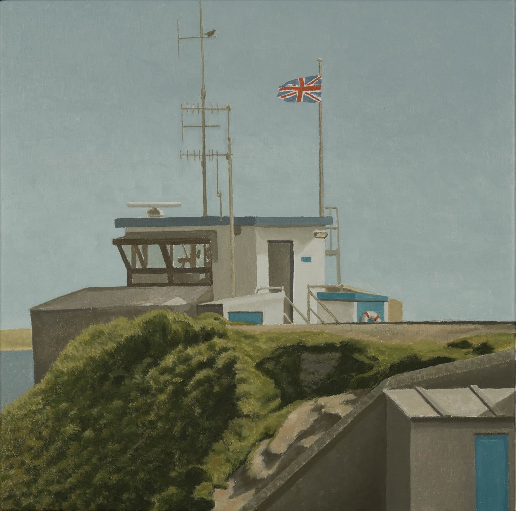 Coast Guard Station, St Ives, 2012, David Inshaw. The Fine Arts Society.