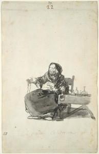 La madre Celestina, c. 1819-23, Album D, page 22, Boston Museum of Fine Arts