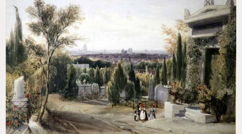 Père Lachaise, Paris, 1831, Thomas Shotter Boys. Glynn Vivian Art Gallery, Swansea