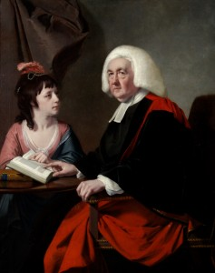 The Rev. Dr. Thomas wilson and his adopted Daughter Miss Catherine Sophia Macaulay. Joseph Wright, 1776. Chawton House Library.