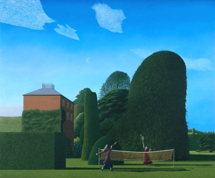 The Badminton Game, david Inshaw, 1972-73, Tate Collection