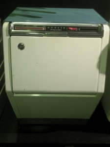 The Hoover Keymatic washing machine of 1961 which appeared revolutionary for the time in terms of design .
