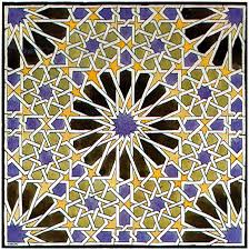 Escher's drawing of a tile pattern in the Alhambra, Granada, October 1922