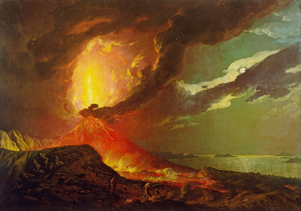 Vesuvius in Eruption, with a View over the islands in the Bay of Naples. Joseph Wright, c. 1776-80. © Tate, London 2013.