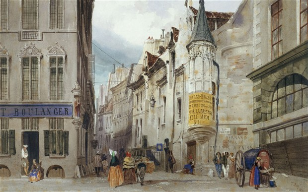 The Corner of the Rue Bailleul and the Rue Jean Tison, 1831. Thomas Shotter Boys. Musée Carnavalet Paris.