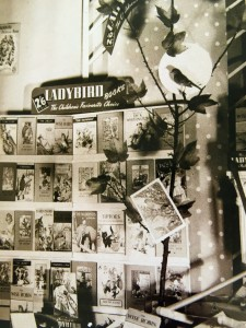 """He he did some particularly good displays using stuffed birds and real branches in windows and what was attractive about them was that they were all designed for individual shops."" A 1940s window display designed and built by Douglas Keen at his home in Straford-upon-Avon. © Douglas Keen family archive"