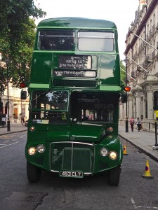 RMC 1453 resplendent in its green livery outside the national Trust's London HQ