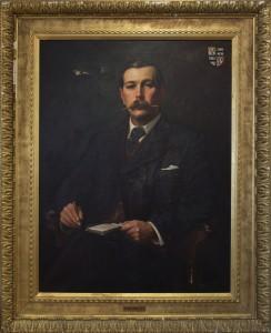 Portrait of Sir Arthur Conan Doyle by Sidney Paget, 1897 © Musée Sherlock Holmes de Lucens