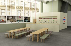The commuter's dream - how a pub on the Underground might look, care of Fired Earth
